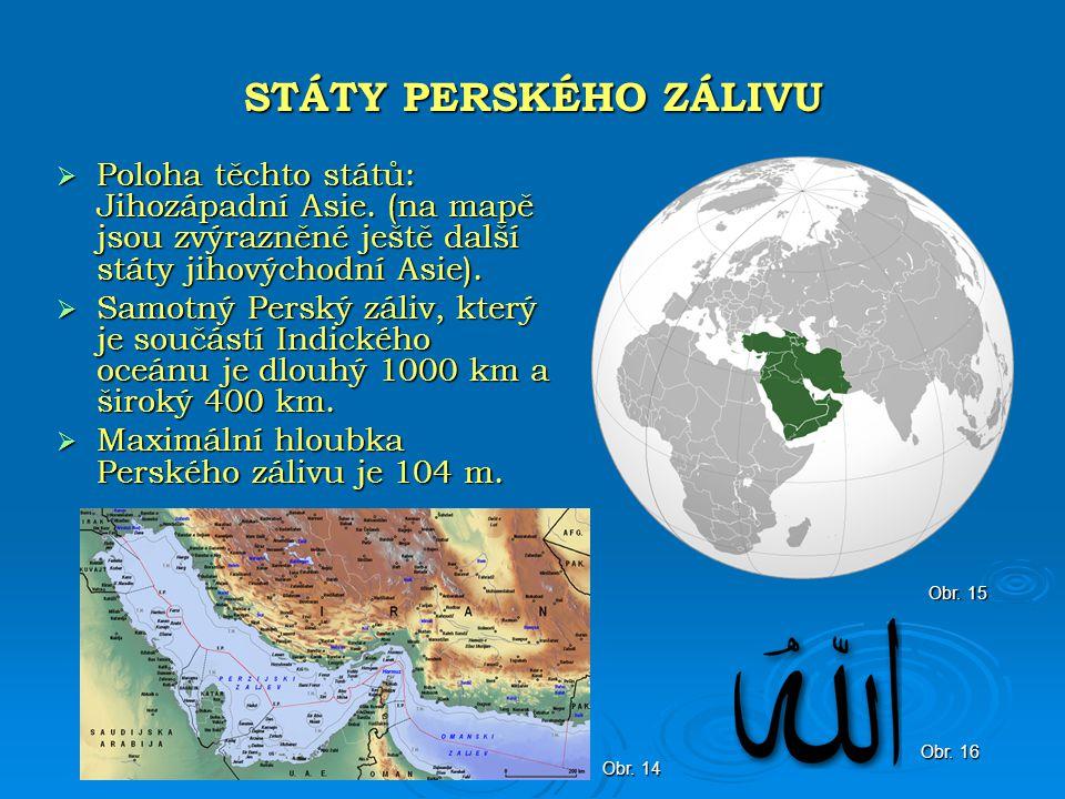  Většina oblastí je tvořena pouštěmi. Největší leží na Arabském poloostrově, např.
