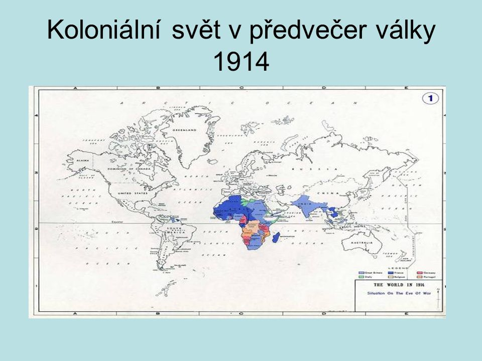 Koloniální svět v předvečer války 1914