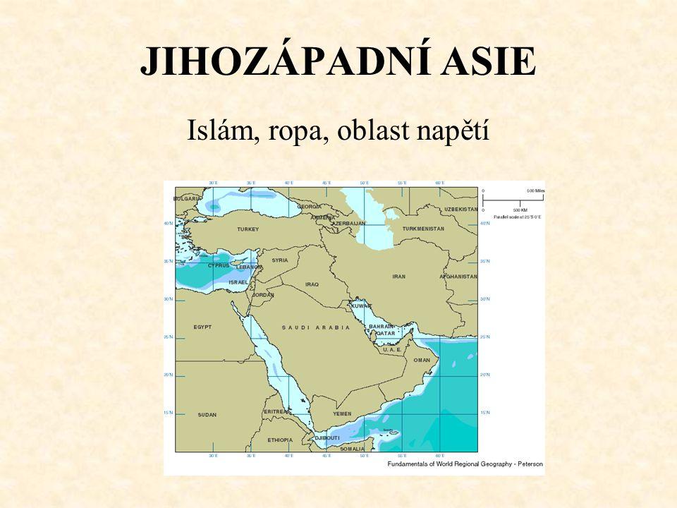 JIHOZÁPADNÍ ASIE Islám, ropa, oblast napětí