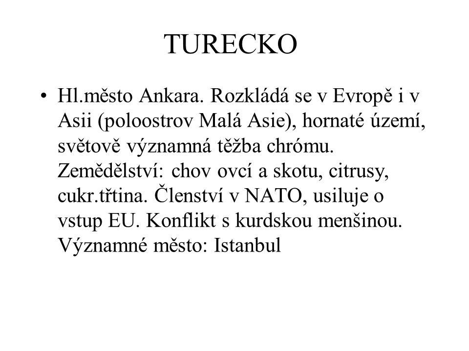 TURECKO Hl.město Ankara.