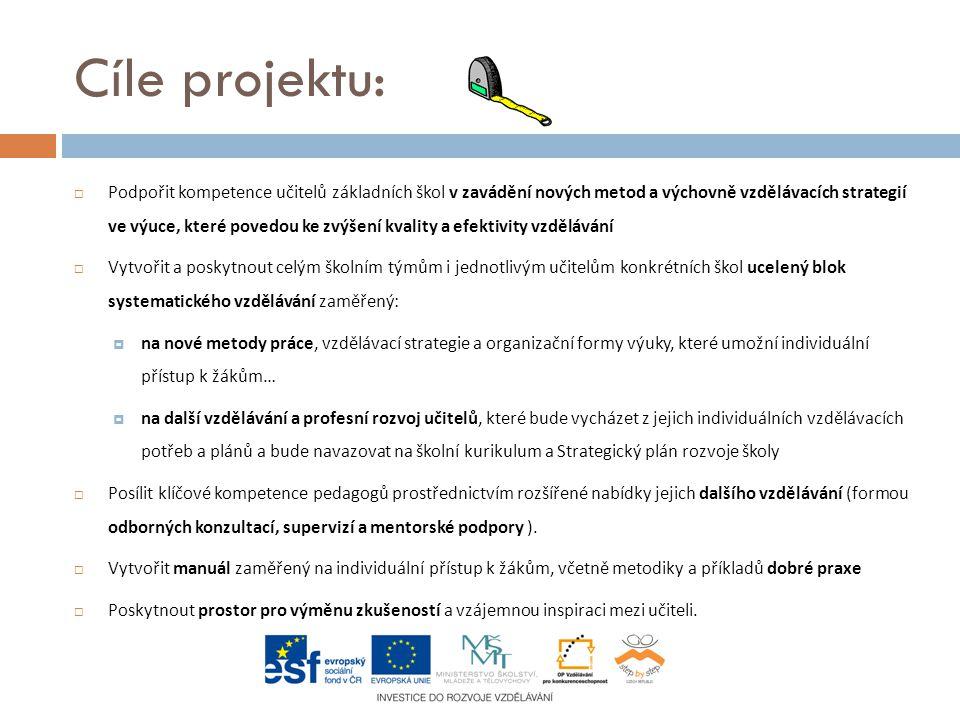 Klíčové aktivity projektu:  Základní blok vzdělávání- semináře pro učitele I.