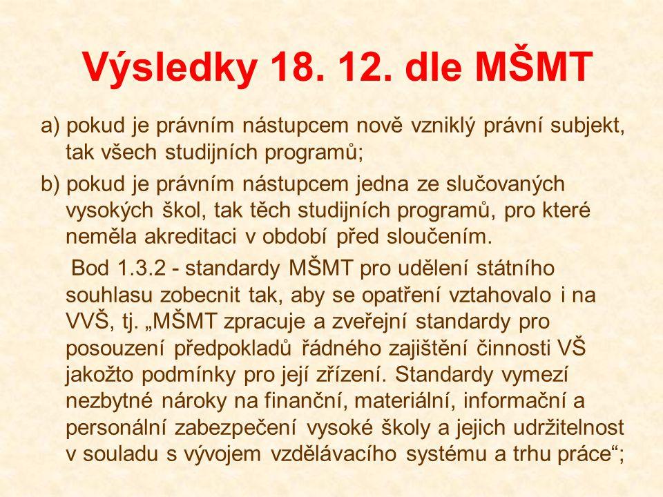 Výsledky 18.12. dle MŠMT 2.1 Personální autonomie.