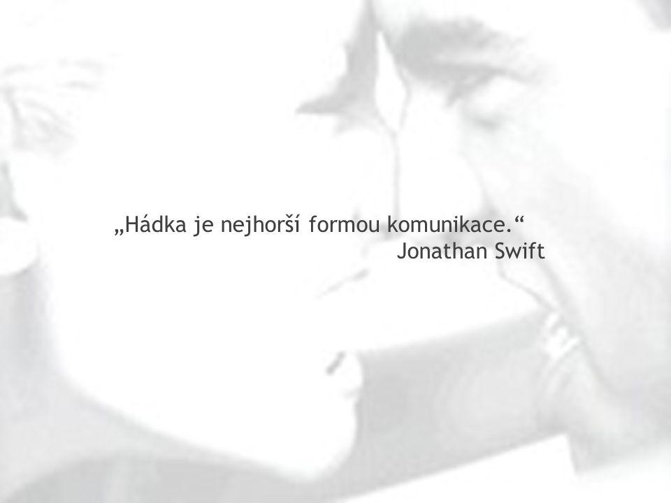 """""""Hádka je nejhorší formou komunikace."""" Jonathan Swift"""