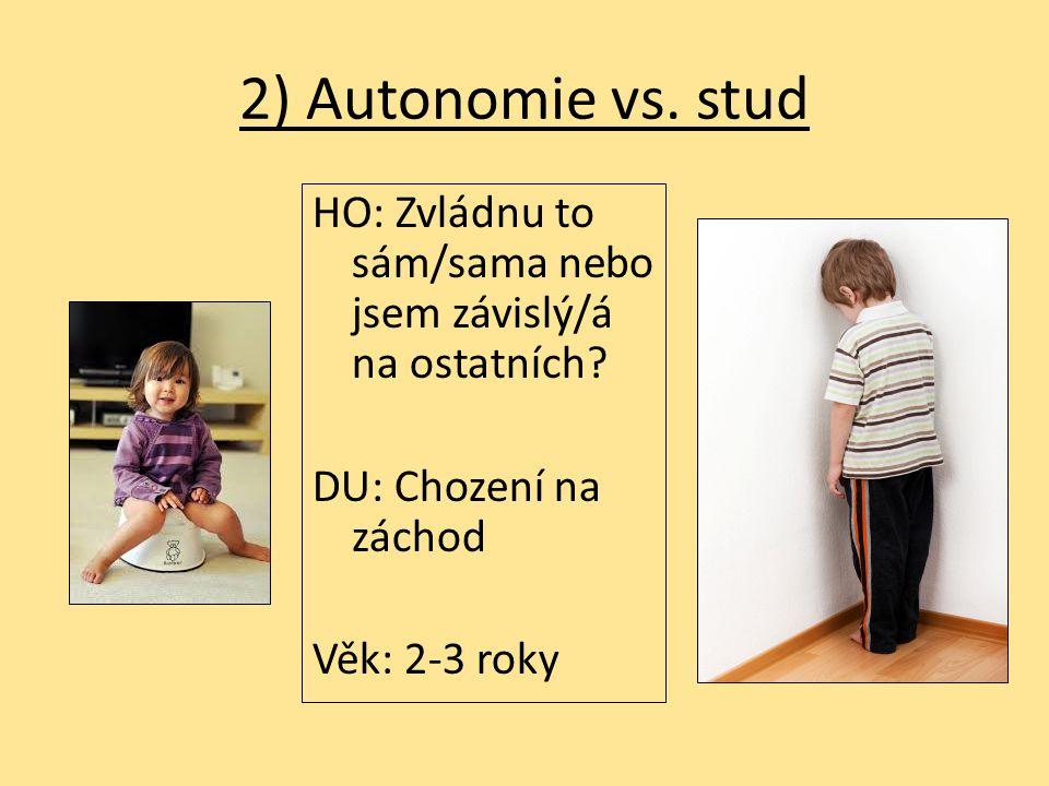 2) Autonomie vs.stud HO: Zvládnu to sám/sama nebo jsem závislý/á na ostatních.