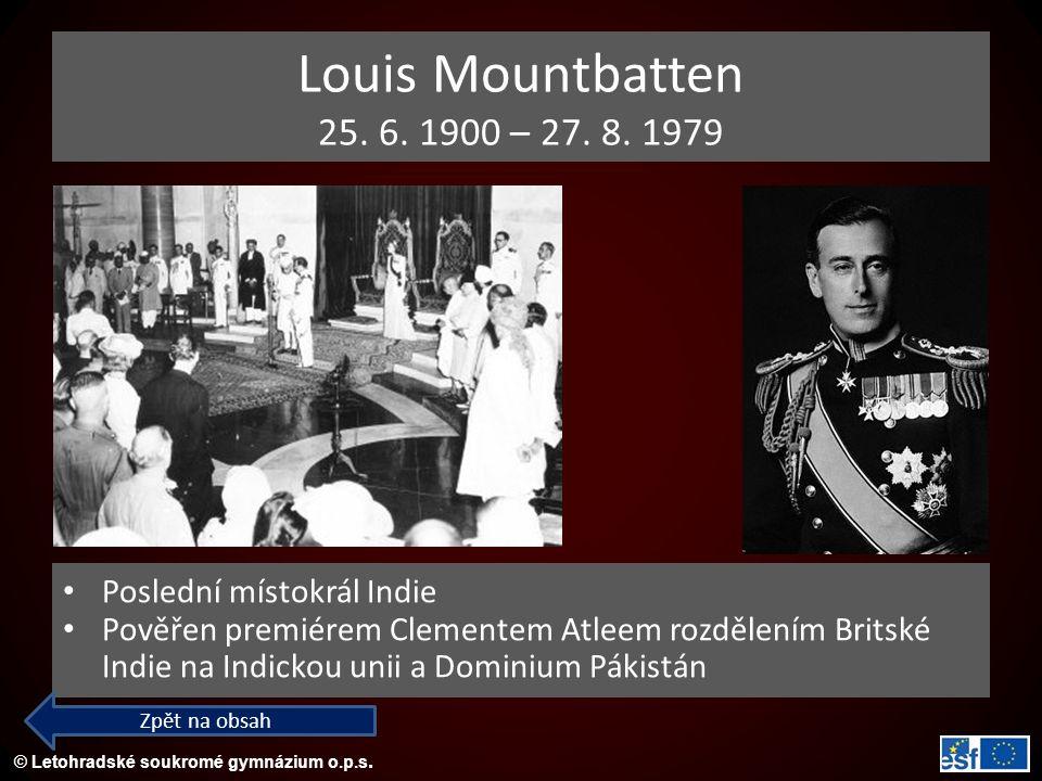 © Letohradské soukromé gymnázium o.p.s.Louis Mountbatten 25.
