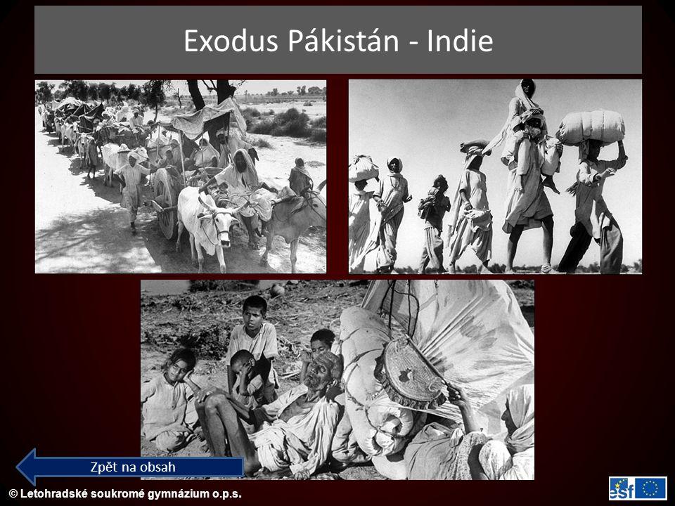 © Letohradské soukromé gymnázium o.p.s. Exodus Pákistán - Indie Zpět na obsah