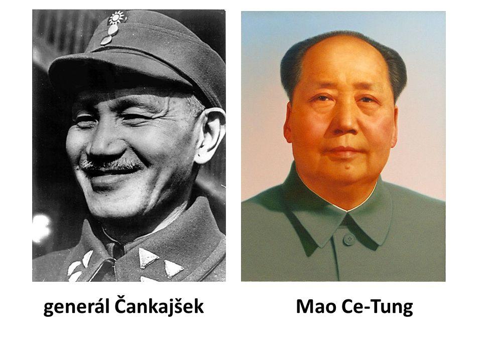 generál Čankajšek Mao Ce-Tung