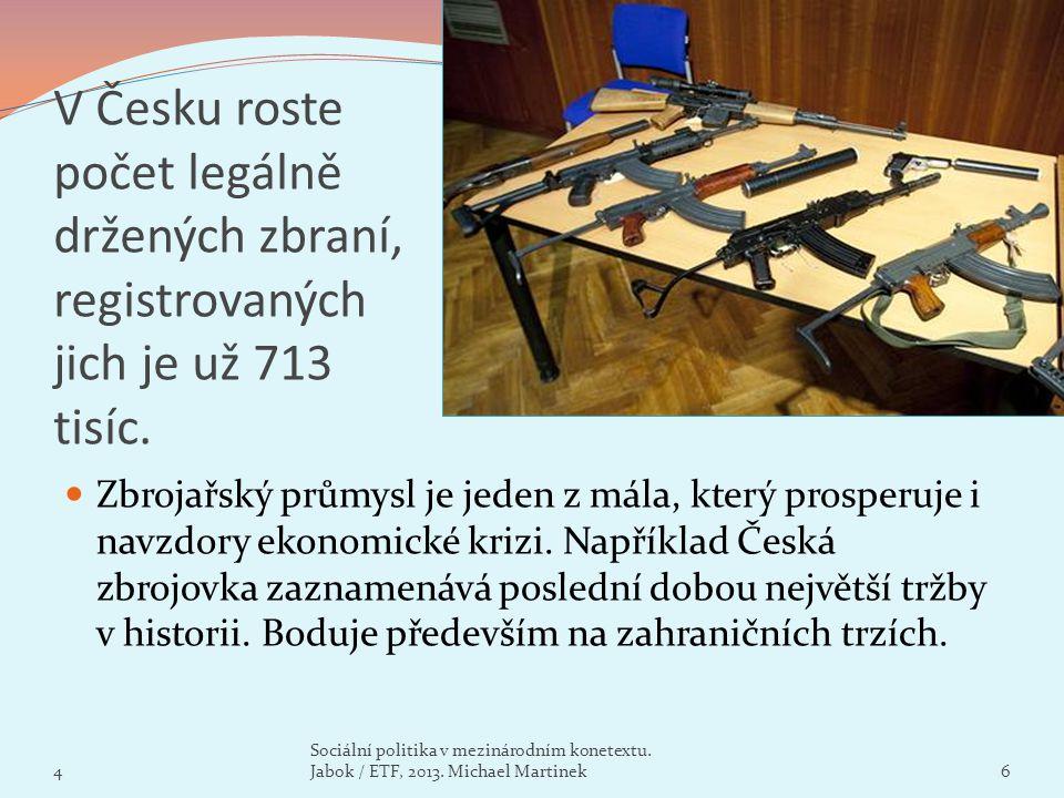 V Česku roste počet legálně držených zbraní, registrovaných jich je už 713 tisíc. Zbrojařský průmysl je jeden z mála, který prosperuje i navzdory ekon