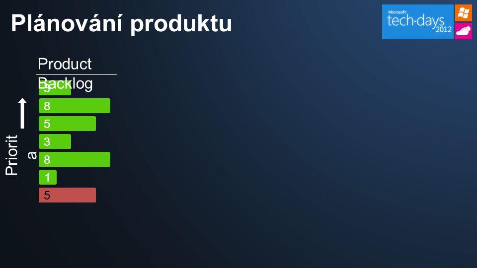 5 3 8 3 Product Backlog 1 8 Priorit a 5 Plánování produktu