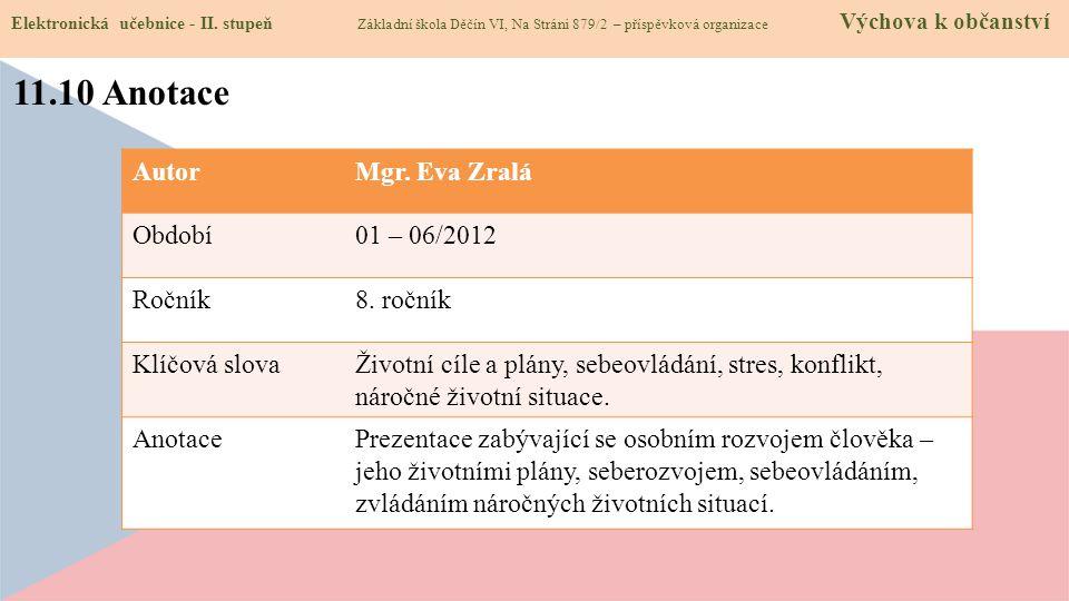 11.10 Anotace Elektronická učebnice - II.