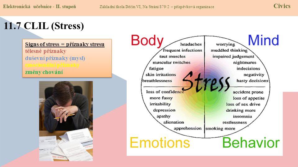 11.7 CLIL (Stress) Elektronická učebnice - II.