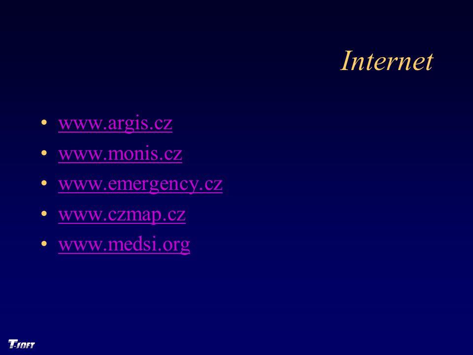 Internet www.argis.cz www.monis.cz www.emergency.cz www.czmap.cz www.medsi.org