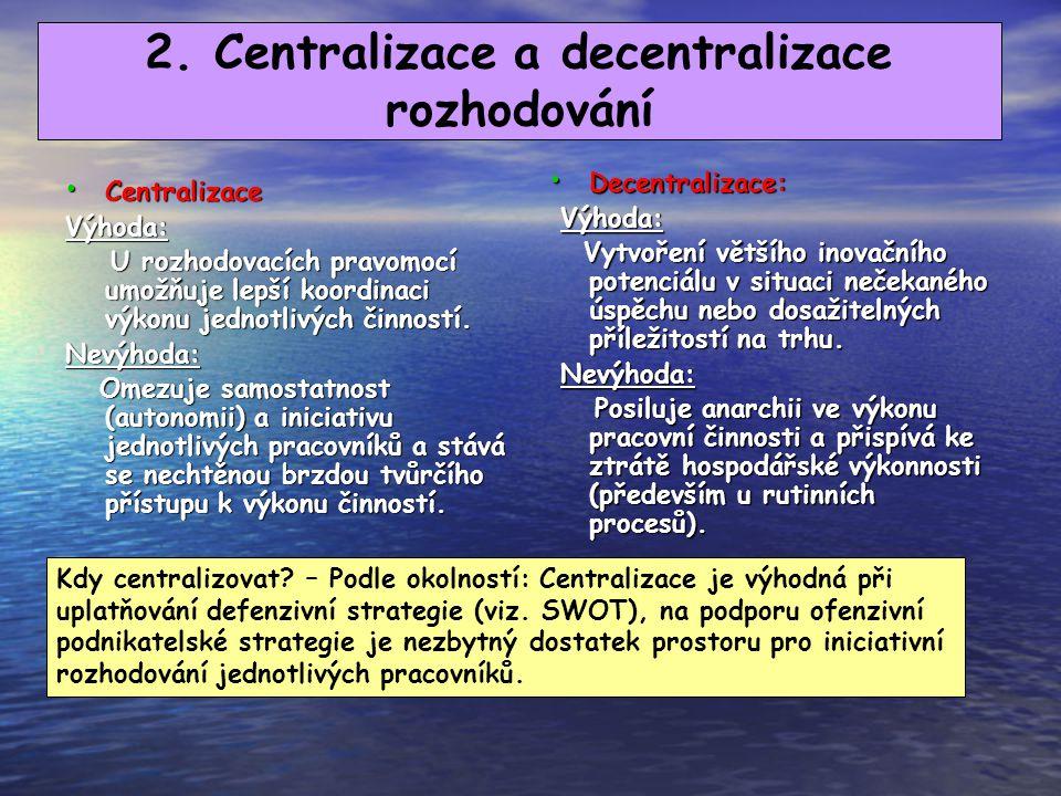 1.4. Normativní vymezení změn ve struktuře Normativní vymezení změn je založeno na minimalizování rozdílu mezi hodnotou daného situačního faktoru a př