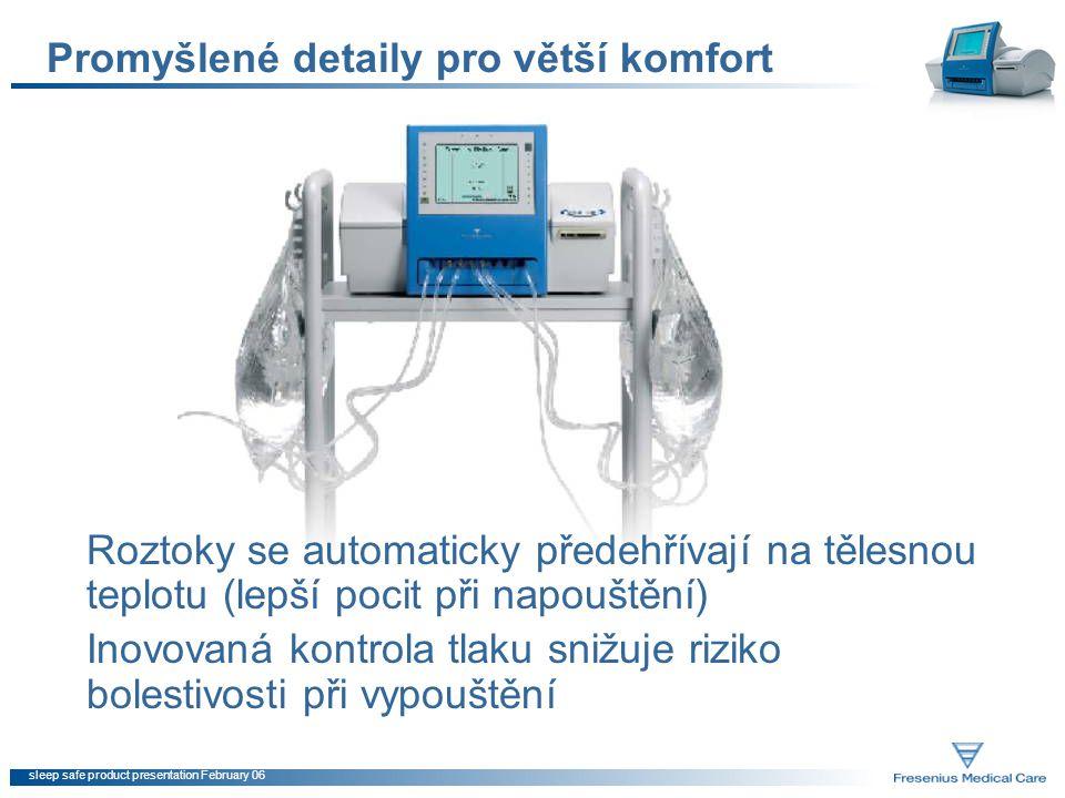 sleep safe product presentation February 06 Optimalizace léčby pomocí PatientOnLine Sledování a optimalizace léčby vašich pacientů je externě podporováno softwarem PatientOnLine