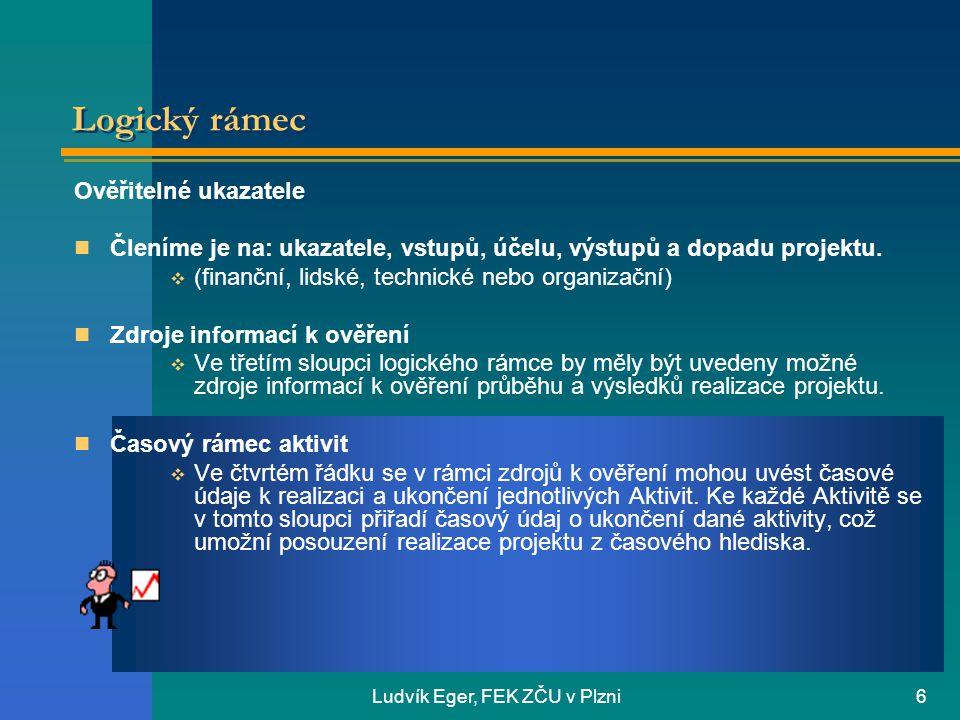 Ludvík Eger, FEK ZČU v Plzni7 Děkuji za pozornost
