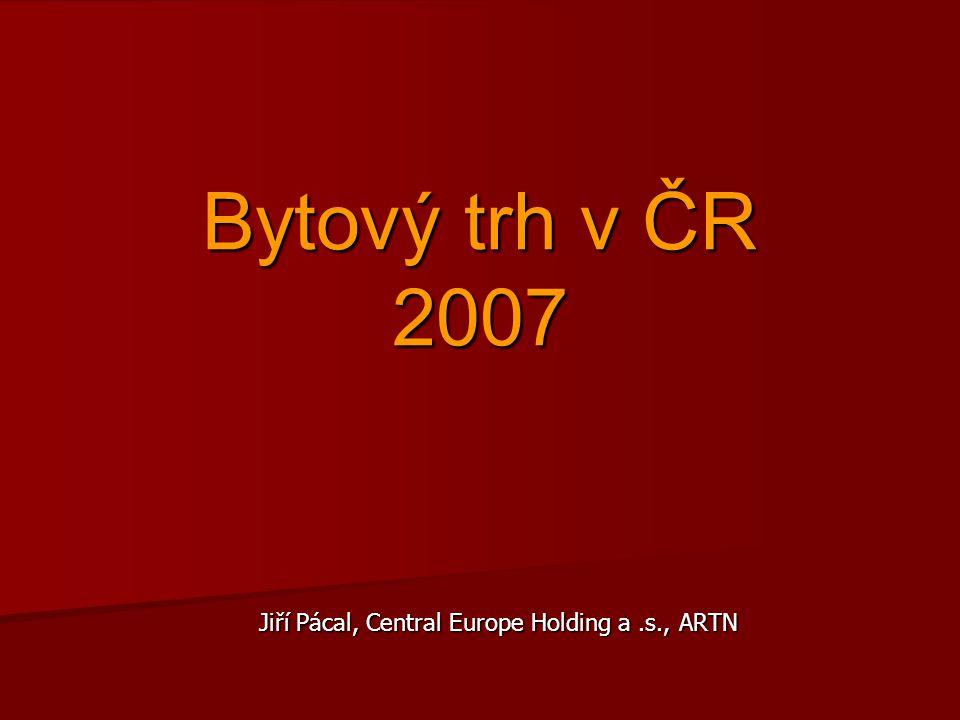 Bytový trh v ČR 2007 Jiří Pácal, Central Europe Holding a.s., ARTN