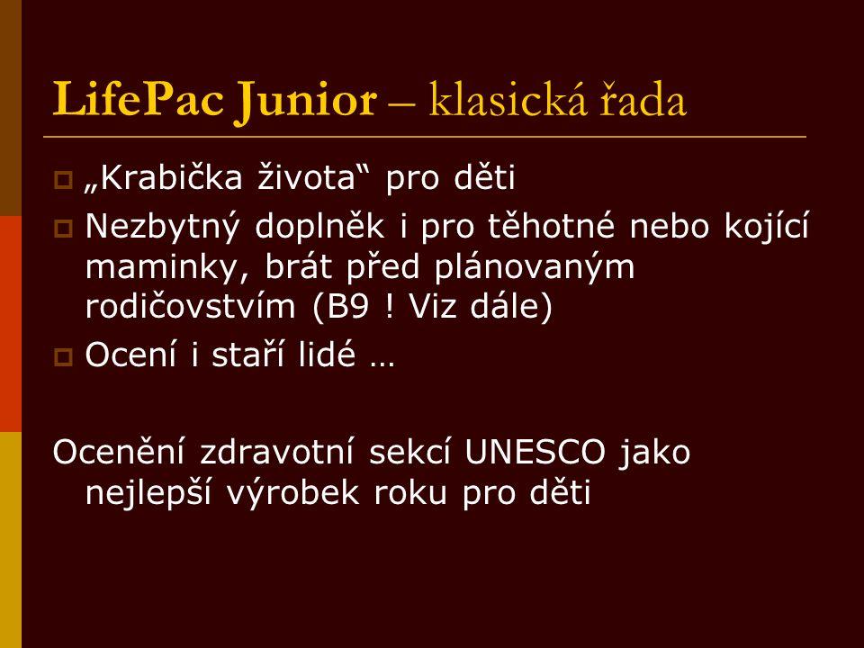 """LifePac Junior – klasická řada  """"Krabička života"""" pro děti  Nezbytný doplněk i pro těhotné nebo kojící maminky, brát před plánovaným rodičovstvím (B"""
