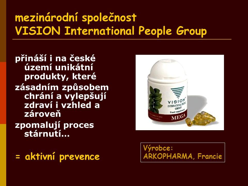 mezinárodní společnost VISION International People Group přináší i na české území unikátní produkty, které zásadním způsobem chrání a vylepšují zdraví