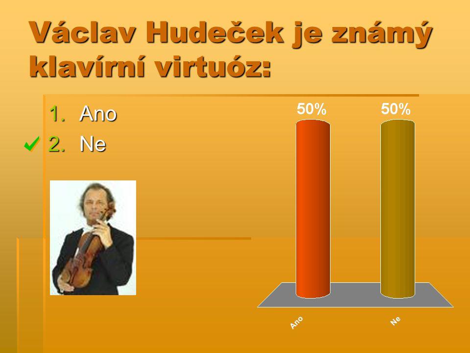 Václav Hudeček je známý klavírní virtuóz: 1.Ano 2.Ne