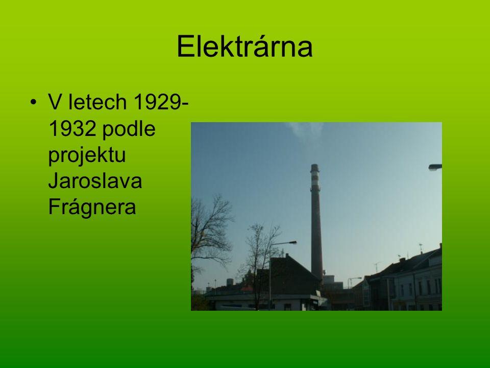 Elektrárna V letech 1929- 1932 podle projektu Jaroslava Frágnera