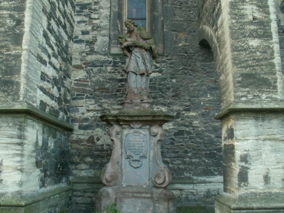 Hlavní oltář chrámu pochází z konce 17.stol.