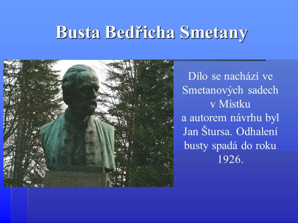 Busta Bedřicha Smetany Dílo se nachází ve Smetanových sadech v Místku a autorem návrhu byl Jan Štursa. Odhalení busty spadá do roku 1926.