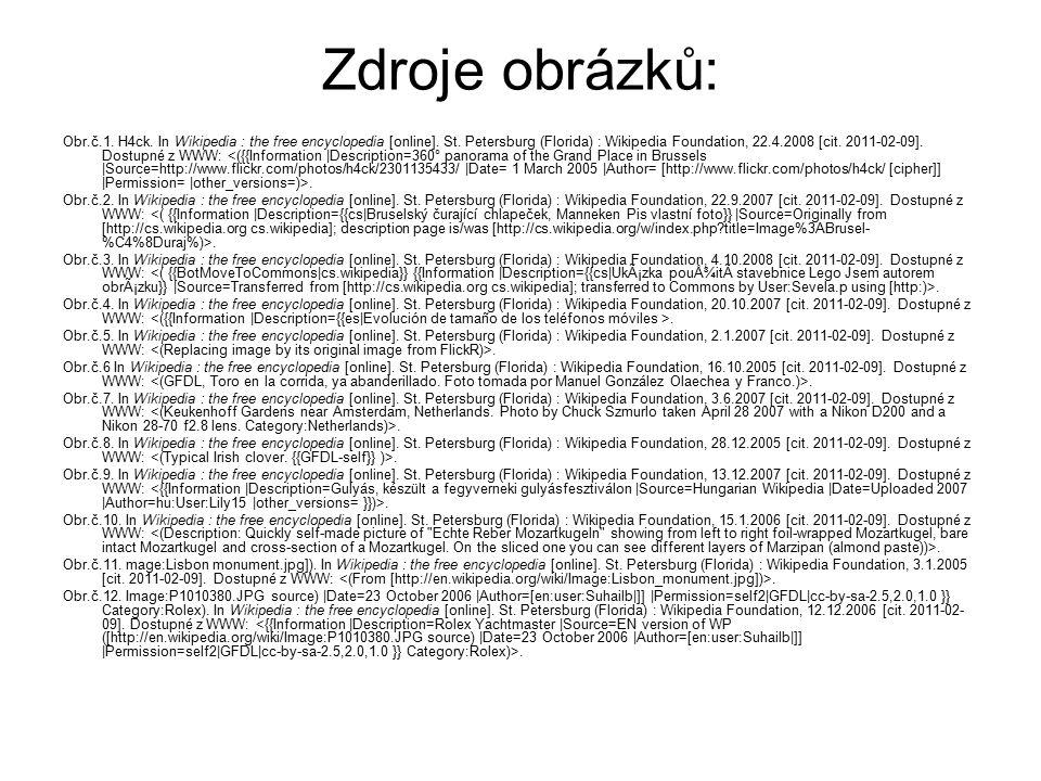 Zdroje obrázků: Obr.č.1. H4ck. In Wikipedia : the free encyclopedia [online]. St. Petersburg (Florida) : Wikipedia Foundation, 22.4.2008 [cit. 2011-02