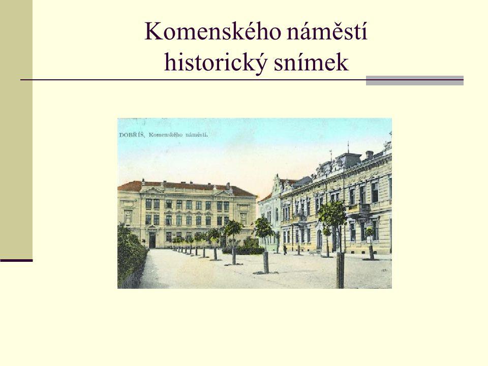 Komenského náměstí historický snímek