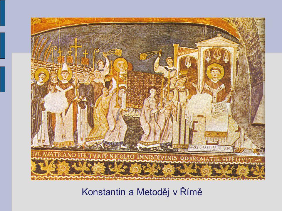 Konstantin a Metoděj v Římě
