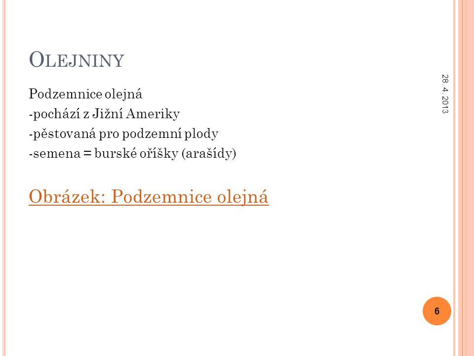 D ŘEVINY Trnovník akát -pochází ze Severní Ameriky -dřevina -lichozpeřené listy, úponky přeměněné v trny -květy vytvářejí hroznovitá květenství Obrázek: Trnovník akát 28.