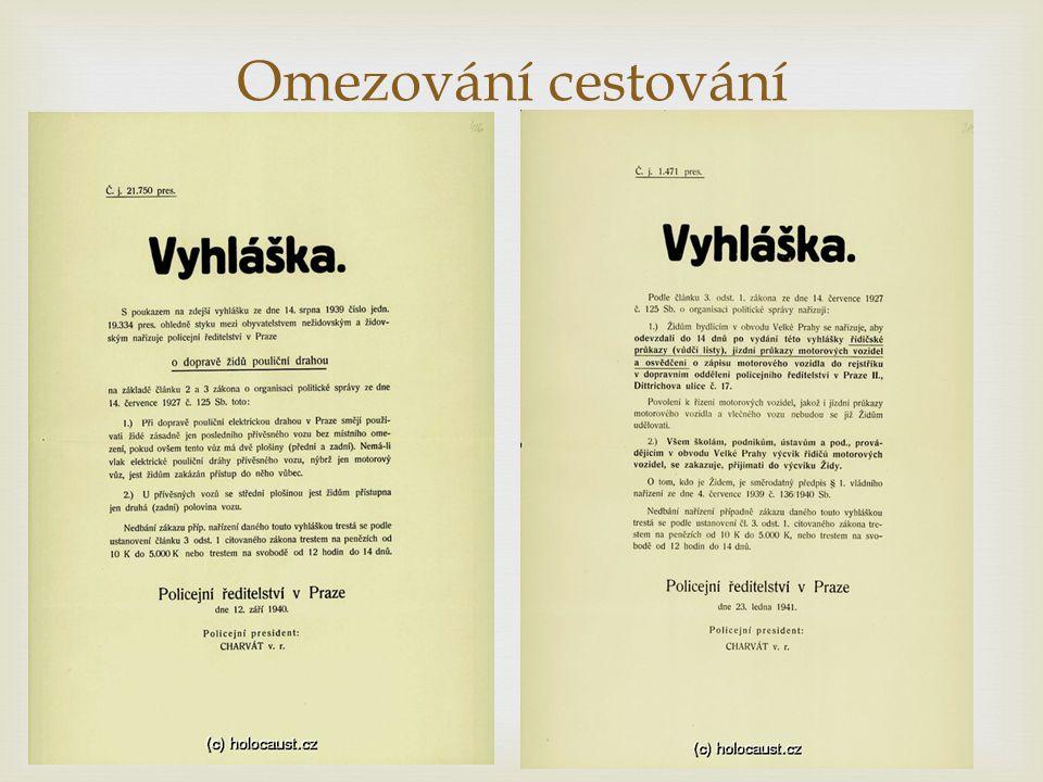 Nařízení týkající se majetku  Nařízení Říšského protektora v Čechách a na Moravě o židovském majetku z 21.