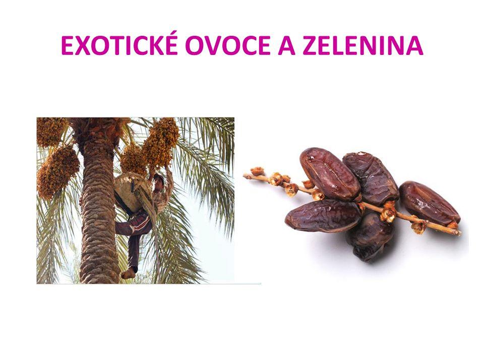 EXOTICKÉ OVOCE A ZELENINA fíky