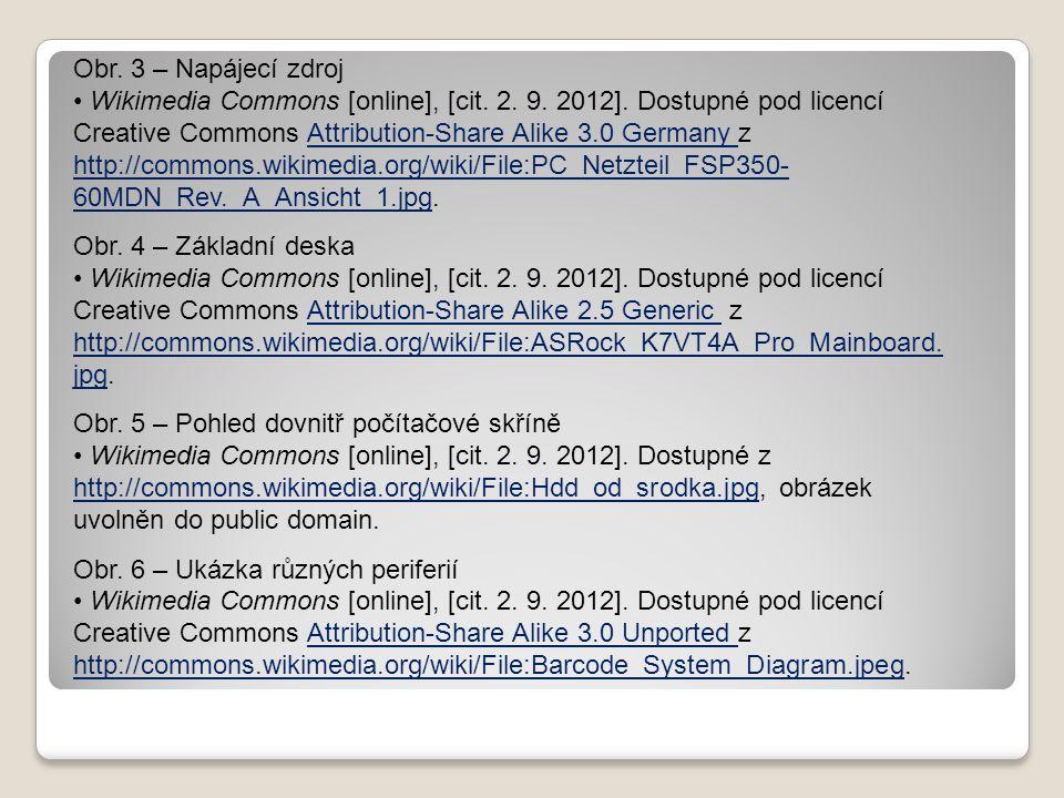 Obr. 3 – Napájecí zdroj Wikimedia Commons [online], [cit. 2. 9. 2012]. Dostupné pod licencí Creative Commons Attribution-Share Alike 3.0 Germany z htt