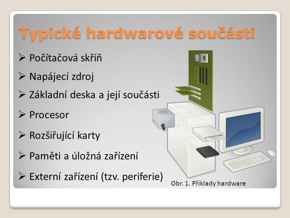 Počítačová skříň Počítačová skříň je součást počítače sloužící k ukrytí a zejména mechanickému upevnění jednotlivých dalších vnitřních součástí počítače.