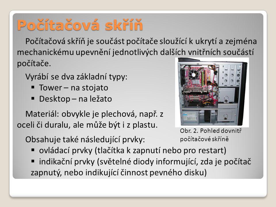Napájecí zdroj Napájecí zdroj počítače je napájen z elektrické sítě proudem se střídavým napětím (v České republice 230 V).