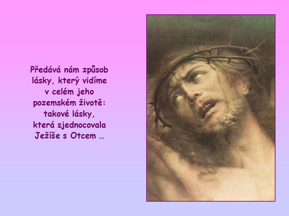 Zdá se však, že chce říct ještě něco jiného, a sice to, že zachovávání jeho přikázání v nás vzbuzuje lásku, která je podobná té jeho.