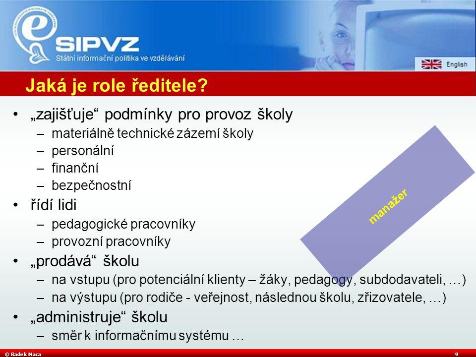 © Radek Maca10 Jaká je role koordinátora - metodika ICT.