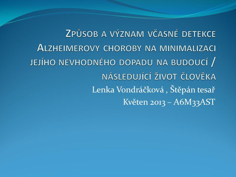 Lenka Vondráčková, Štěpán tesař Květen 2013 – A6M33AST