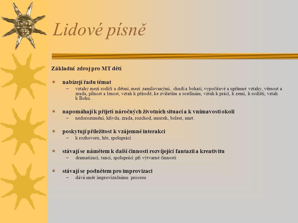 Postup při práci s písničkou Postup při práci s lidovou písní podle Šimanovského:  1.