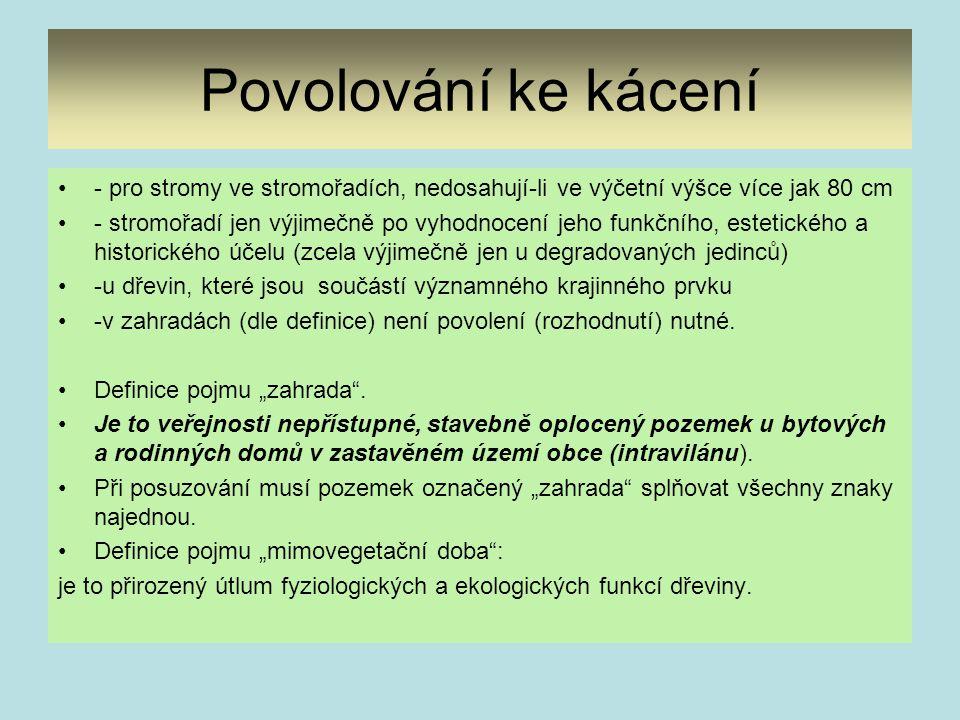 Metodiky, ČSN, dohody upravující podrobnosti způsobu ochrany stromů rostoucích mimo les 1.