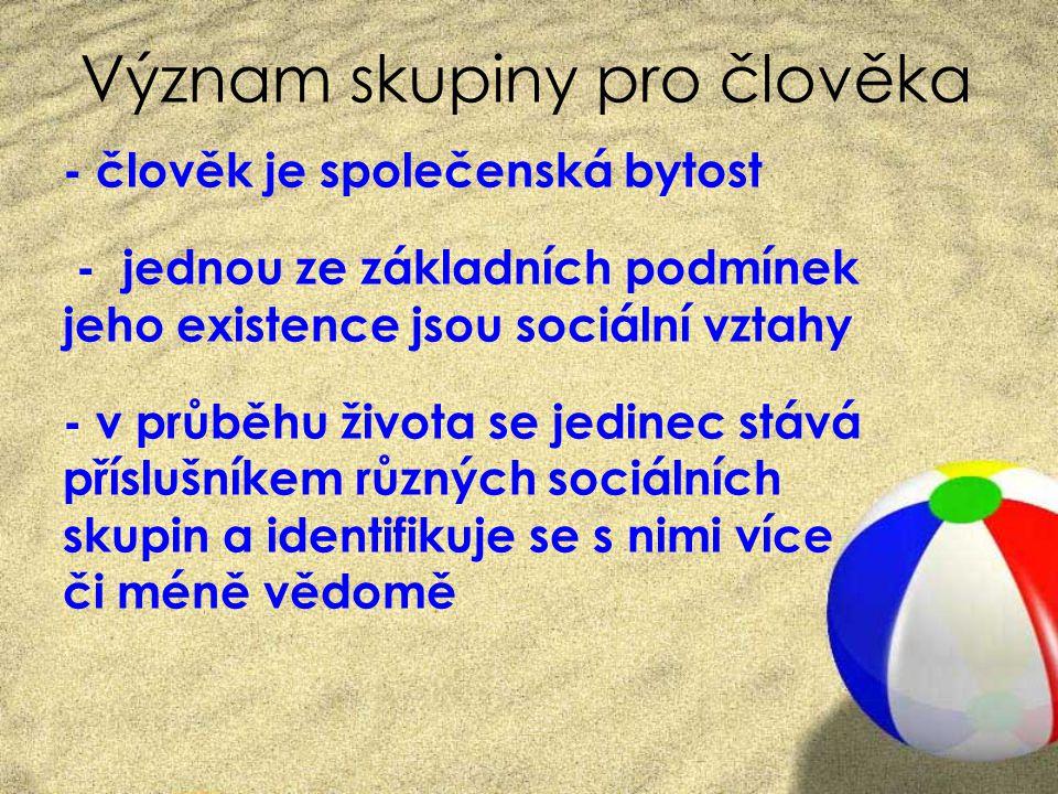 Aktivita Úkol: CO JE SKUPINA.1. Napište na papír svou vlastní definici skupiny.