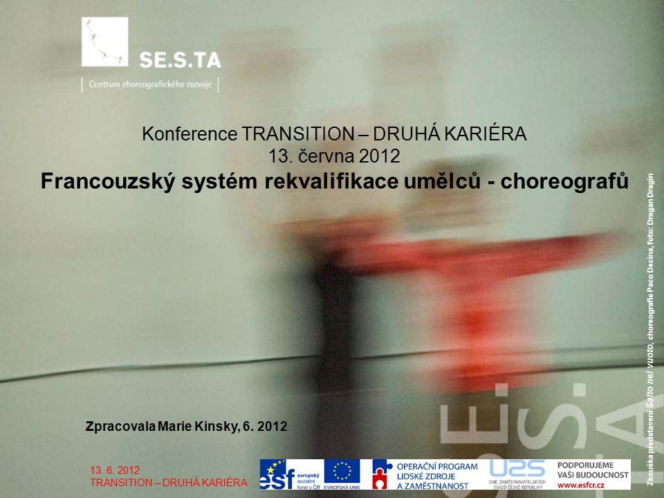 Zkouška představení Salto nel vuoto, choreografie Paco Decina, foto: Dragan Dragin Zpracovala Marie Kinsky, 6.