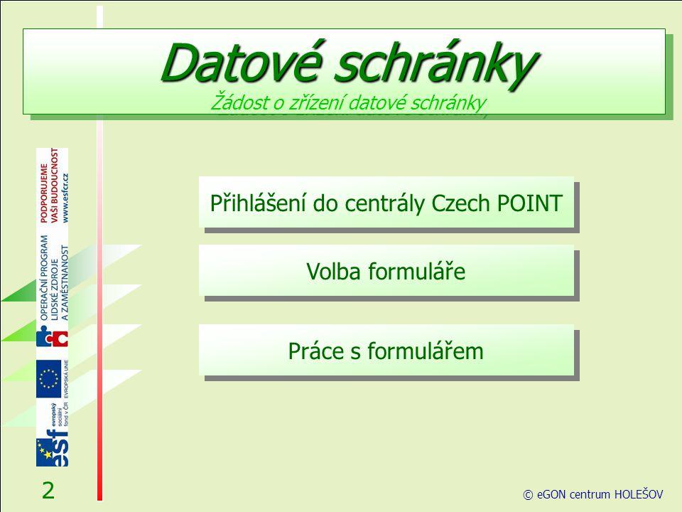 Přihlášení do centrály Czech POINT Než začnete cokoliv pomocí Czech POINT dělat, je třeba se přihlásit do jeho centrály, autentifikovat se a vybrat druh činnosti.