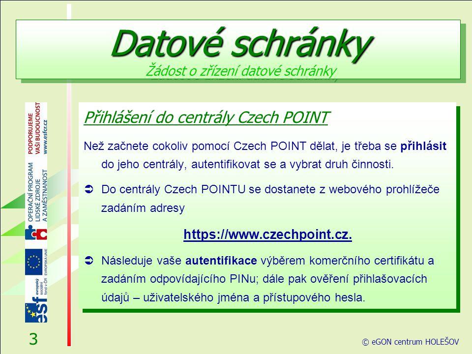 Přihlášení Při vstupu do softwarového rozhraní pro práci s Czech POINT je vyžádána autentifikace (přihlášení) pracovníka.