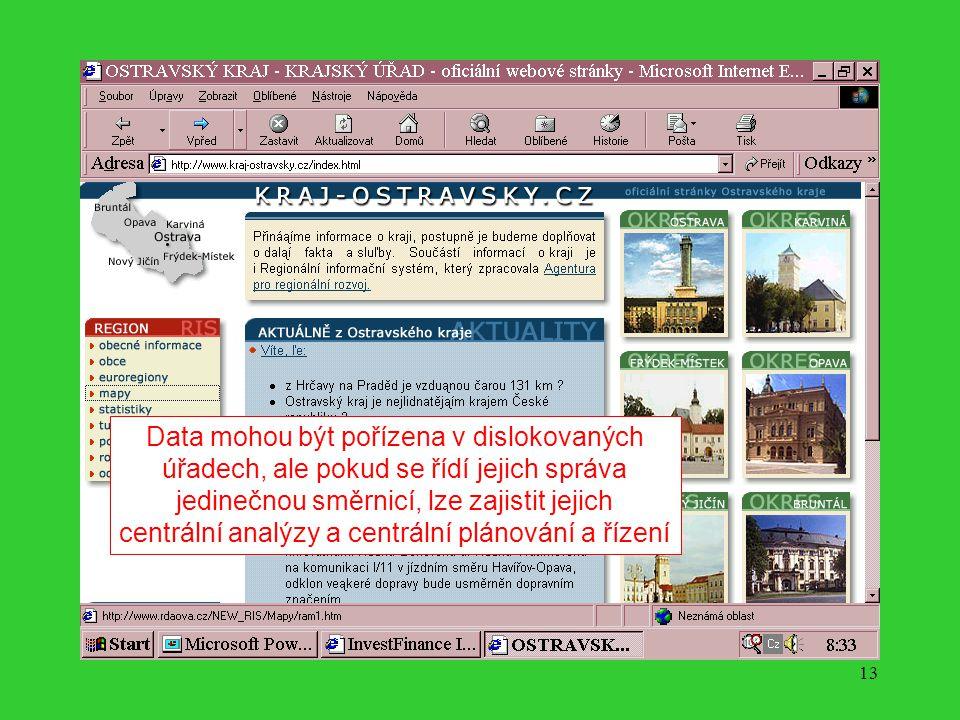 12 Pořizovaná data podléhají nezávislému ověření a kontrole s vazbami na smluvní vztahy, na písemné dohody a podobně.
