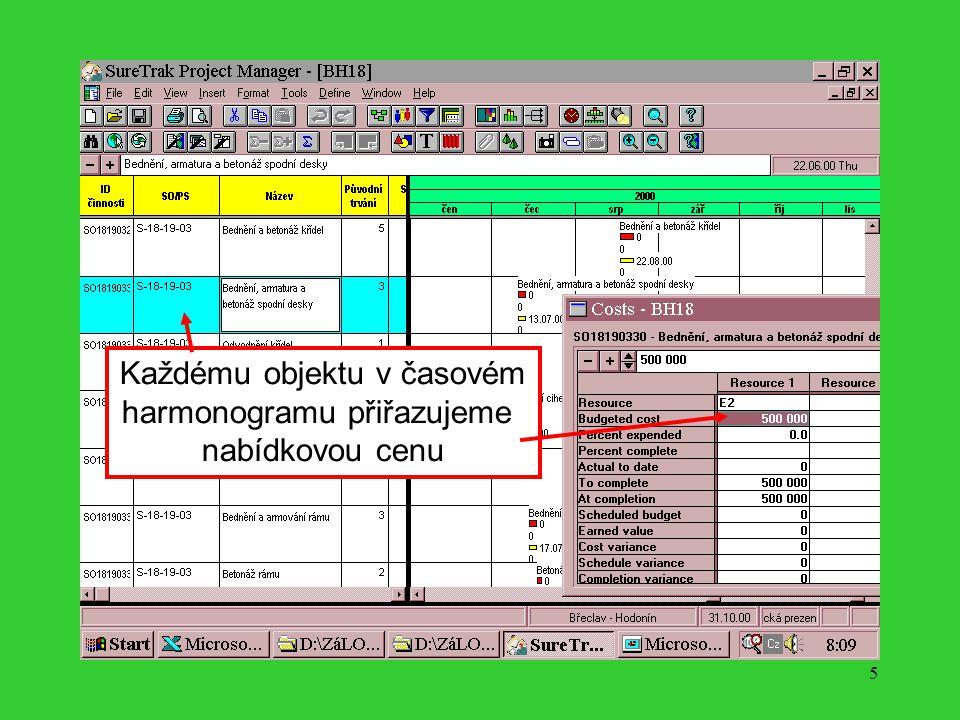 4 Ověřujeme věcnou správnost fakturace a zjištěné skutečnosti pak vyhodnocujeme v časovém harmonogramu stavby