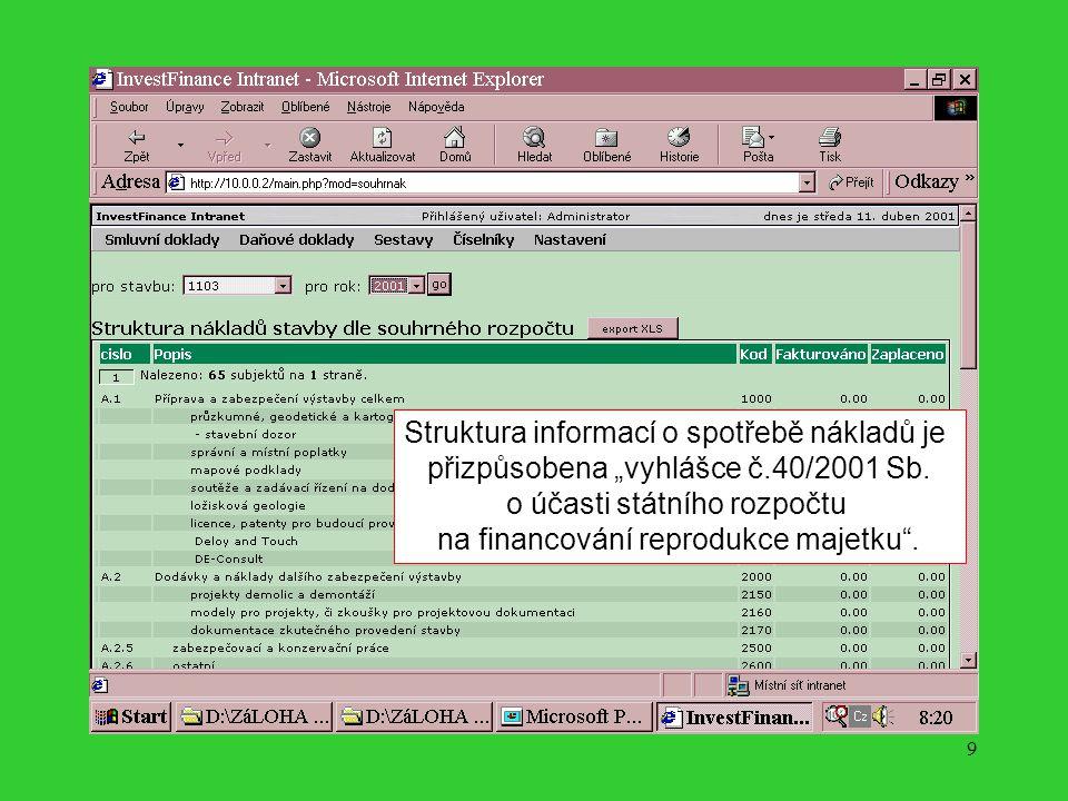 8 Program je vytvořen tak, aby lokálně pořizovaná data mohla být analyzována v jednom centru s jedinečným analytickým pohledem.
