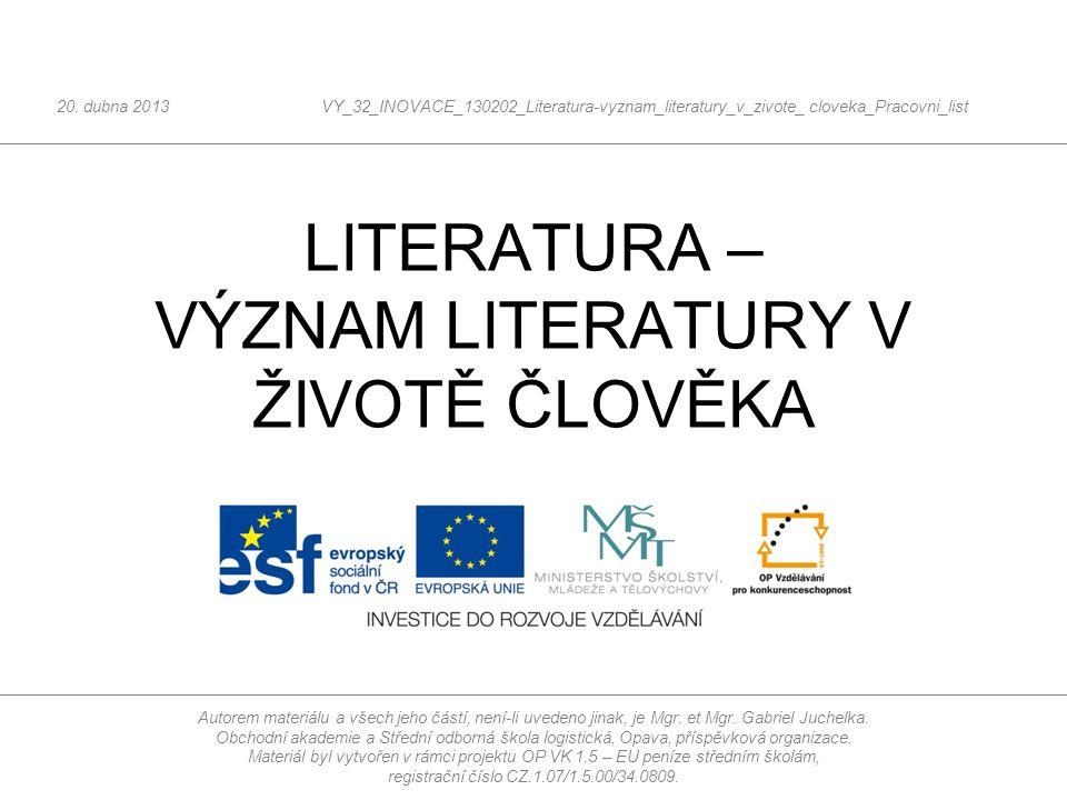 Co je to literatura? ?