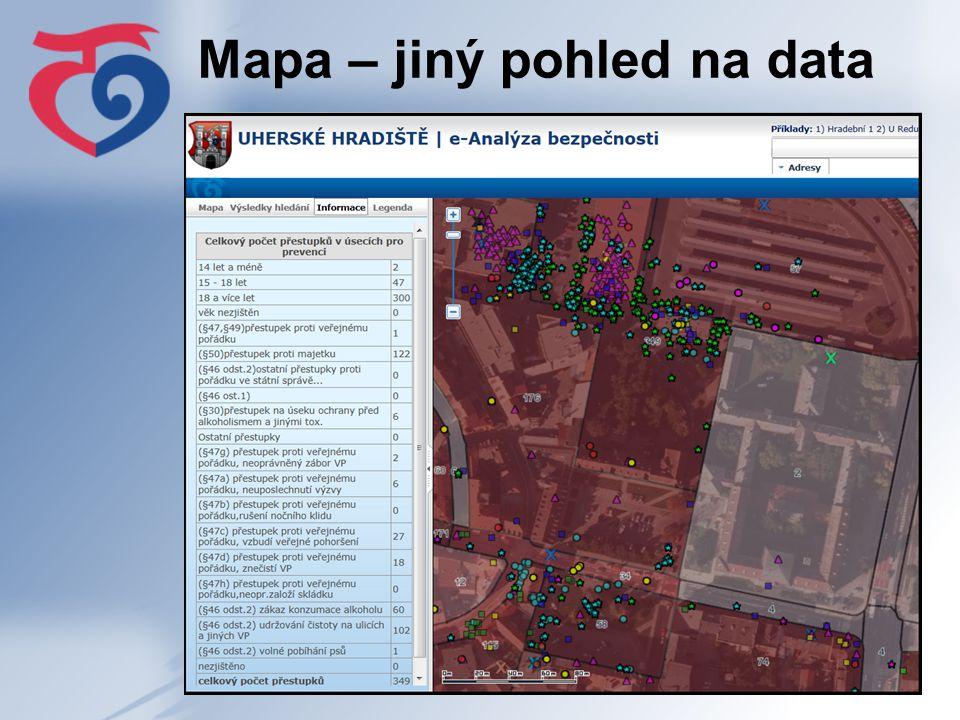 Mapa – jiný pohled na data