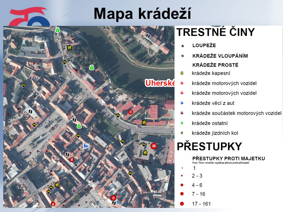 Mapa krádeží